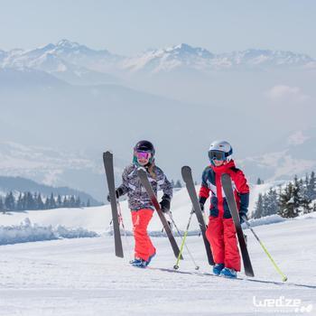 搭配固定器BOOST 500的兒童下坡滑雪板 - 白色