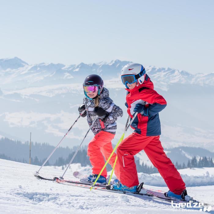 Casco de esquí y snowboard niño H 400 JR naranja.