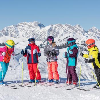 Casque de ski et de snowboard enfant H 400 JR orange.