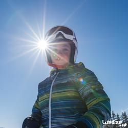 Skibrille Snowboardbrille G 140 S3 Schönwetter Kinder/Erwachsene weiß