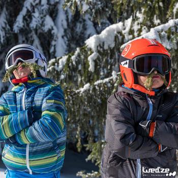 Skiwanten Slide 300 voor kinderen marineblauw