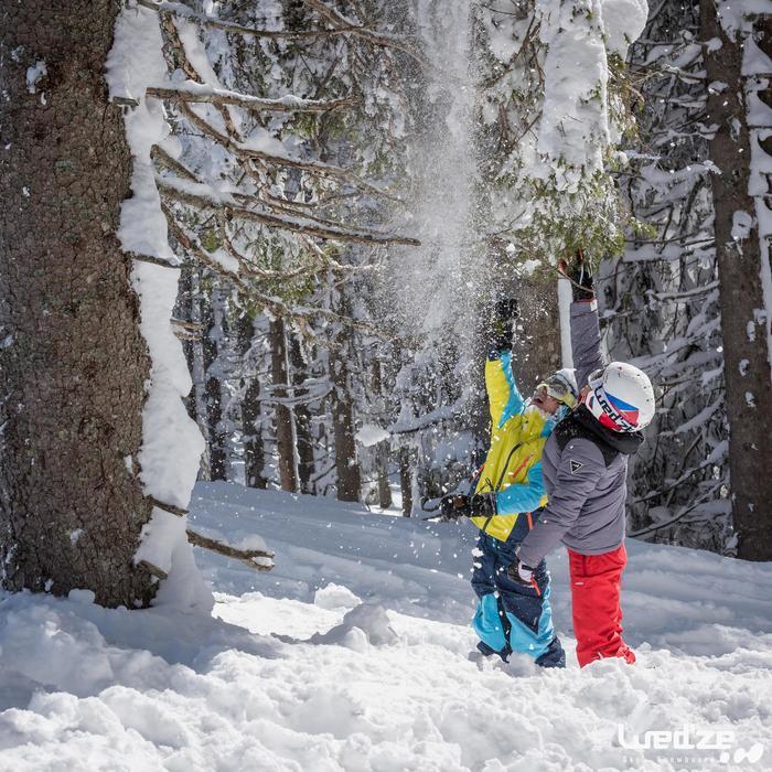 MASQUE DE SKI ET DE SNOWBOARD HOMME BONES 500 BEAU TEMPS GRIS-18 - 1045586
