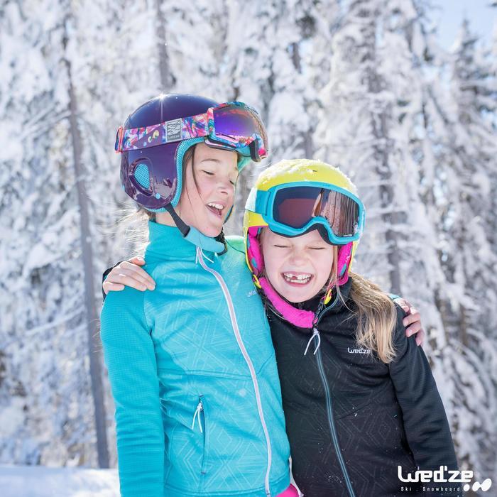 Unterziehjacke Ski Mid Warm 500 Kinder violett