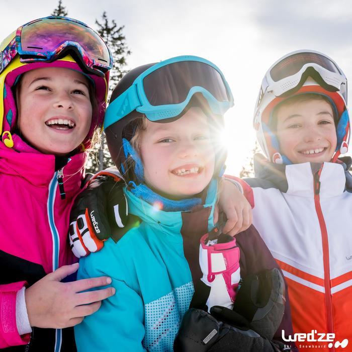 Skijacke 300 Mädchen schwarz