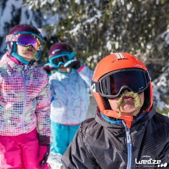 Ski- en snowboardbril voor volwassenen en kinderen G 120 slecht weer zwart