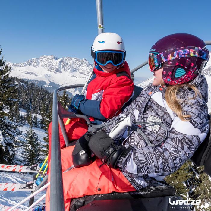 MASQUE DE SKI ET DE SNOWBOARD HOMME BONES 500 BEAU TEMPS GRIS-18 - 1045608
