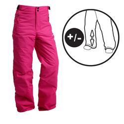 CHILDREN'S SKI TROUSERS SKI-P 500 PNF PINK