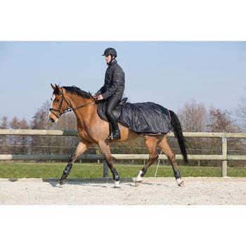 Uitrijdeken ruitersport pony en paard Allweather zwart