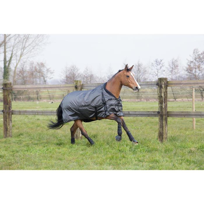 Couverture extérieur imperméable équitation poney cheval ALLWEATHER 2 EN 1 gris - 1046052