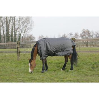 Couverture extérieur imperméable équitation poney cheval ALLWEATHER 2 EN 1 gris - 1046062