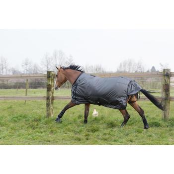 Couverture extérieur imperméable équitation poney cheval ALLWEATHER 2 EN 1 gris - 1046069
