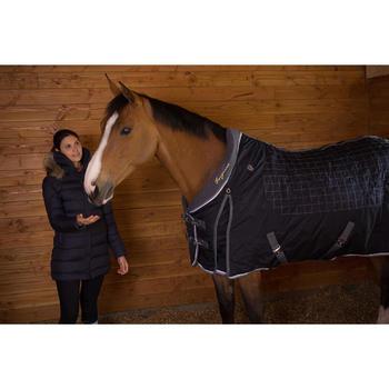 """Staldeken ruitersport Stable 400 """"3"""" blauw/grijs - pony en paard"""