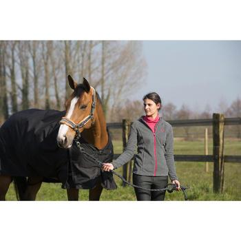Waterdichte outdoordeken ruitersport paard en pony Allweather 200 600D zwart