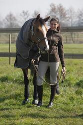 Halstertouw in leer en katoen ruitersport pony en paard 2,5 m - 1046125
