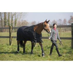 Manta impermeable equitación caballo y poni ALLWEATHER 200 600D negro