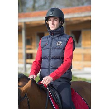 Polo manches longues équitation homme BLASON rouge