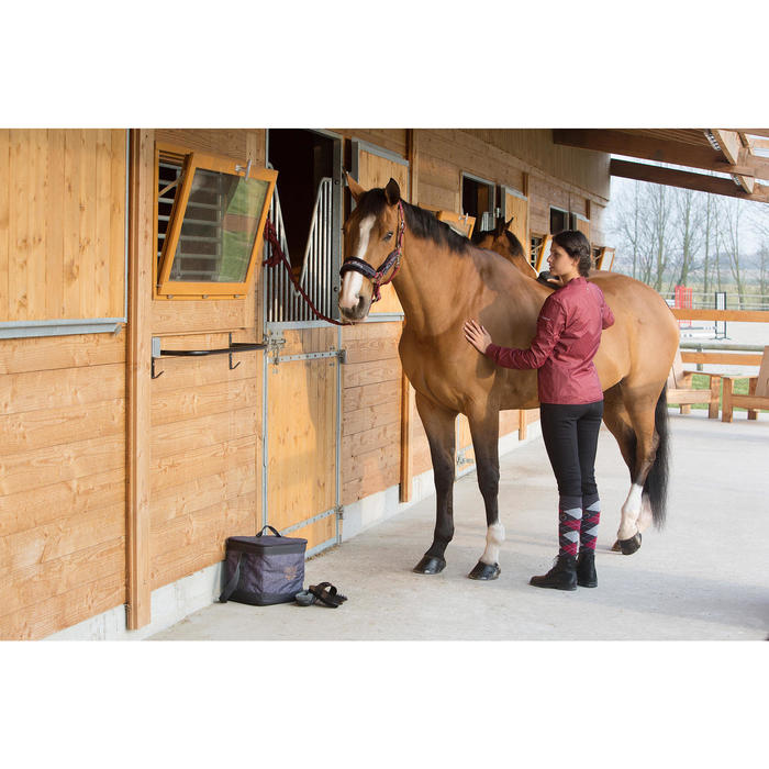Cepillo suave modelo grande equitación SCHOOLING gris