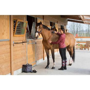 Brosse douce grand modèle équitation SCHOOLING gris