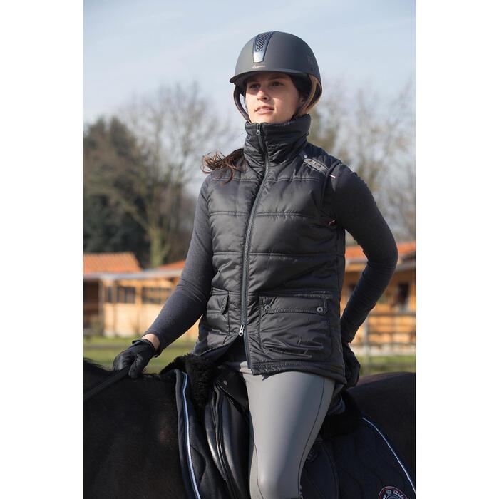 Gilet doudoune sans manche équitation femme PADDOCK noir - 1046210