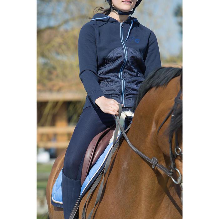 Sweat équitation femme SW500 marine et bleu lavande