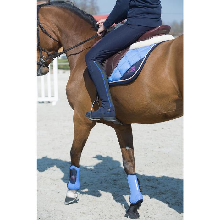 """Selle polyvalente en cuir à arçon réglable équitation cheval PADDOCK marron 17""""5"""