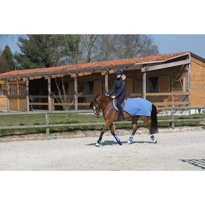 Chaqueta cálida e impermeable equitación mujer TOSCA 1 Azul marino