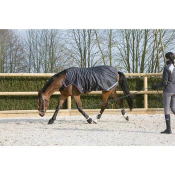 2 springschoenen paard/pony Optimum Protect zwart