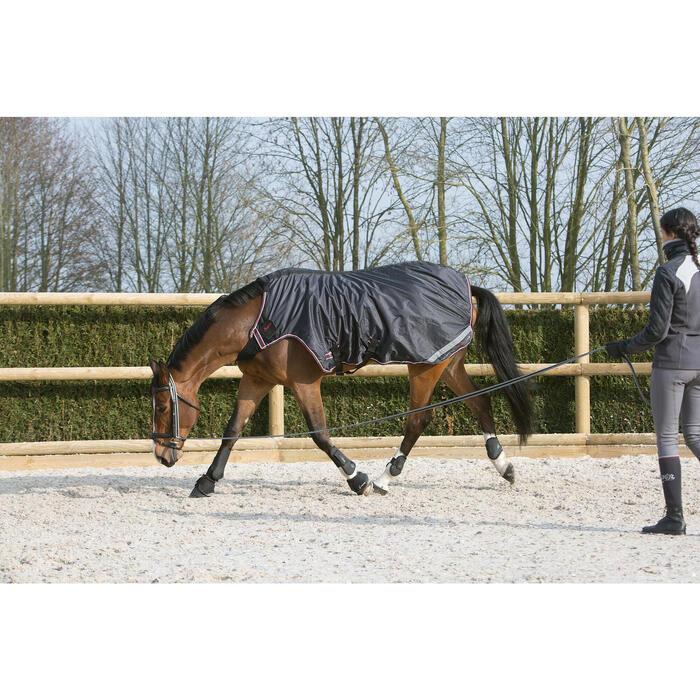 Horse riding Soft Work Leadrope - Grey/Black