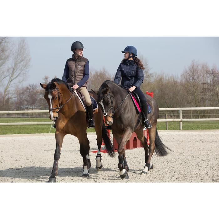 Filet + rênes équitation cheval et poney TINCKLE marron - 1046612