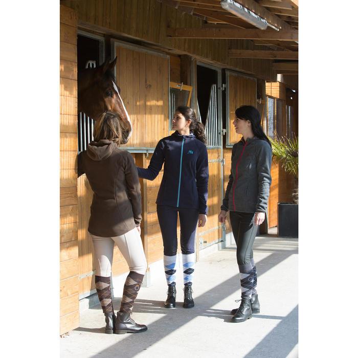 Paardrijbroek dames ruitersport BR500 met inzetstukken - 1046616