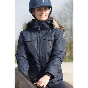 Veste chaude et imperméable équitation femme TOSCA 1 - 1046628