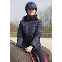 Chaqueta Equitación Fouganza Tosca 1 Mujer Azul Marino Cálida e Impermeable