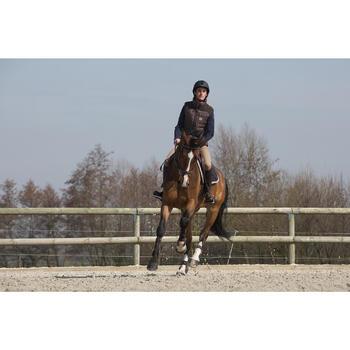 Filet + rênes équitation cheval et poney TINCKLE marron - 1046657