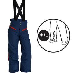 BOYS' 700 PULL 'N FIT 男童滑雪運動長褲 藍色