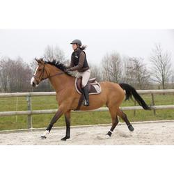 Mini-chaps équitation adulte CLASSIC 140 synthétique noir