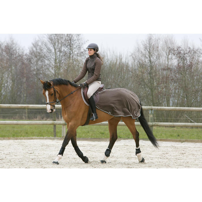 Soft Horse Riding Tendon Boots For Horse Or Pony Twin-Pack - Black - 1046728