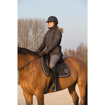 Parka chaude équitation femme PADDOCK gris foncé