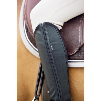 Mini-chaps équitation adulte CLASSIC 100 synthétique noir - 1046737
