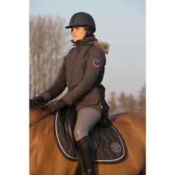 Chaqueta parka cálida equitación mujer PADDOCK Gris oscuro