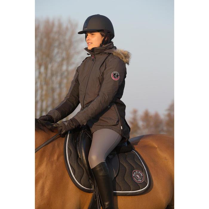 Veste parka chaude équitation femme PADDOCK gris foncé