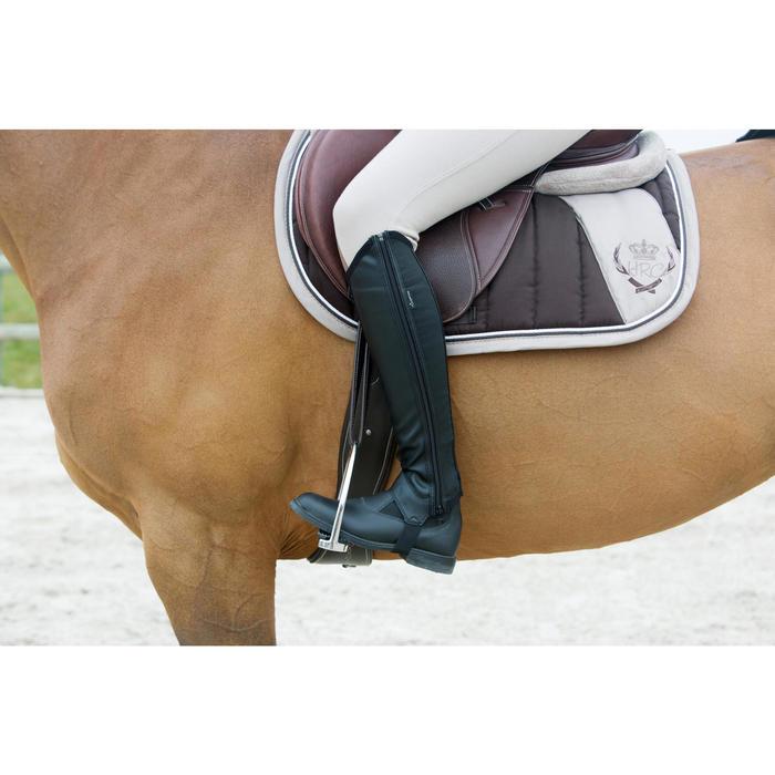 Mini-chaps équitation adulte CLASSIC 100 synthétique noir - 1046742