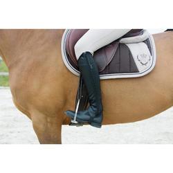 Mini-chaps équitation adulte CLASSIC synthétique noir
