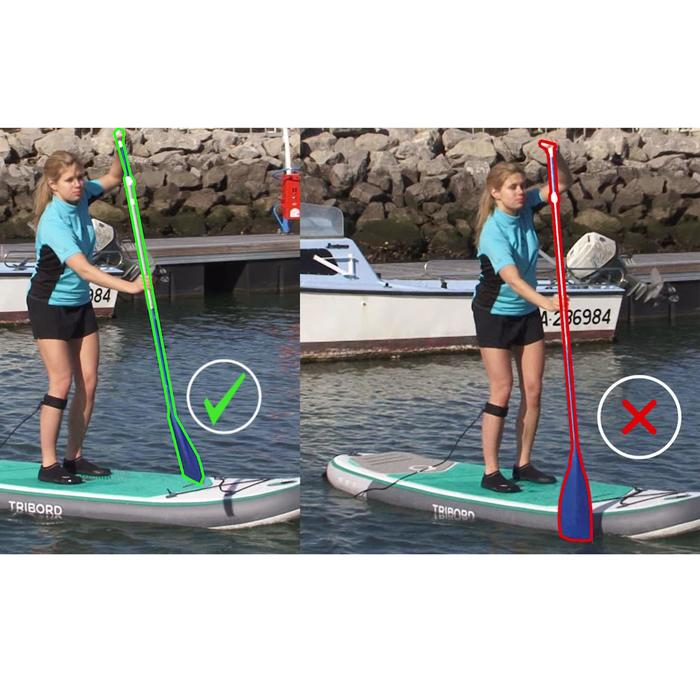 PAGAIE STAND UP PADDLE 100 DEMONTABLE REGLABLE 170-210 CM BLEU - 1046749