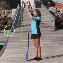 SUP-Paddel Stand Up Paddle 100 zerlegbar und verstellbar 170–210cm blau