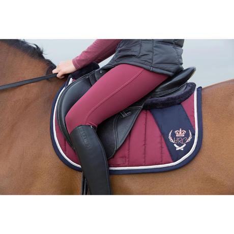 Tapis de selle quitation jump bordeaux taille cheval fouganza - Tapis decathlon equitation ...