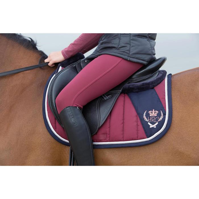 """Selle polyvalente en cuir à arçon réglable équitation cheval PADDOCK 17""""5 - 1046762"""