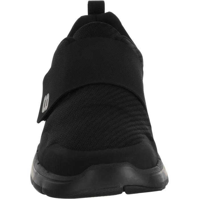 Herensneakers voor sportief wandelen Flex Advantage klittenband zwart