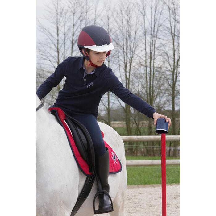 Casque équitation SAFETY CABRIOLE rouge et - 1048813