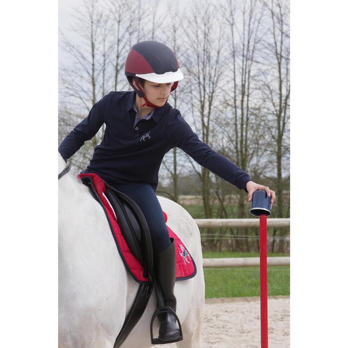 Casque équitation SAFETY CABRIOLE rouge et bleu marine
