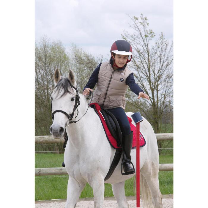 Casque équitation SAFETY CABRIOLE rouge et - 1048814